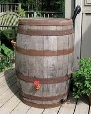 wine barrel rain barrel