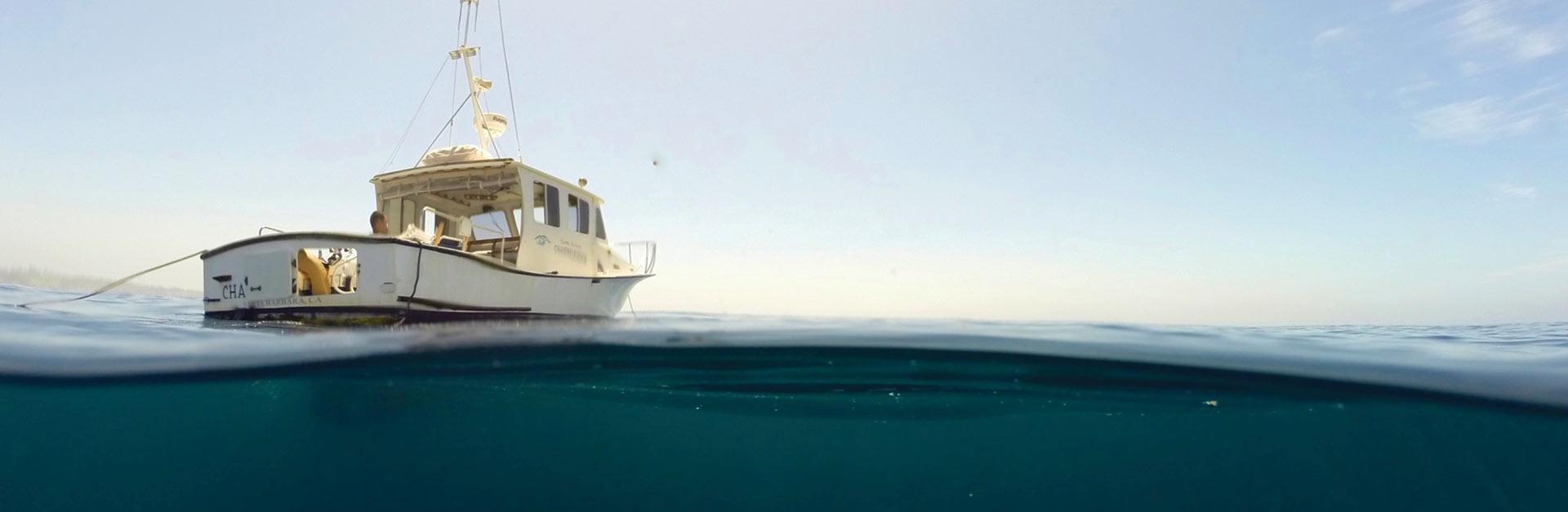 Santa Barbara Channelkeeper's boat.