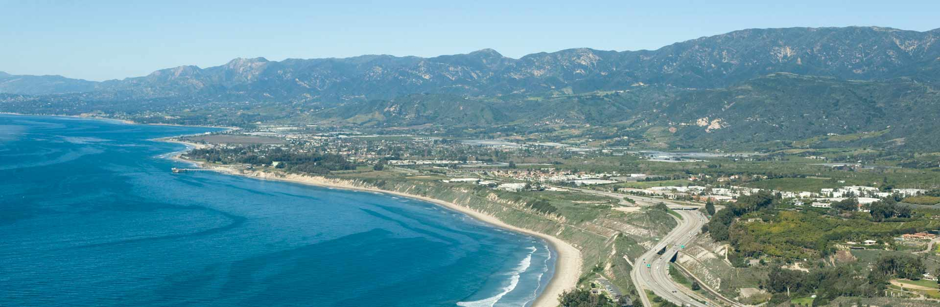 The Santa Barbara Channel and coast.