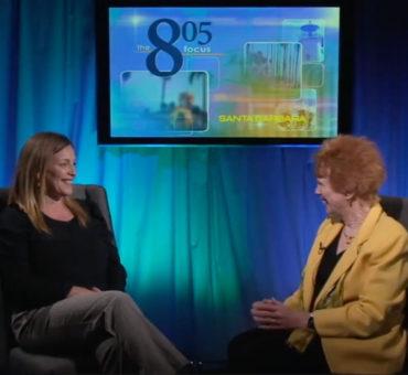 Santa Barbara Channelkeeper's Director Kira Redmond being interviewed.